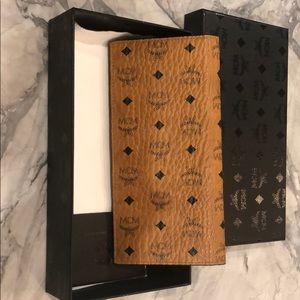 MCM credit card and checkbook case